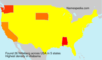 Surname Nitteberg in USA