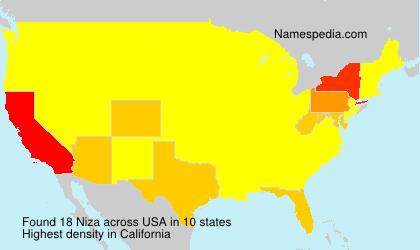 Surname Niza in USA