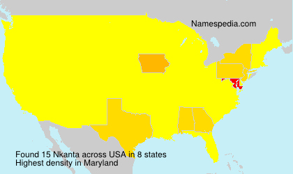 Surname Nkanta in USA