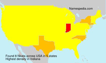 Surname Nkata in USA