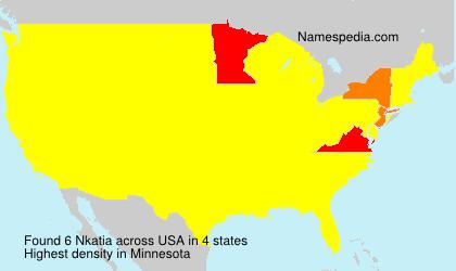 Surname Nkatia in USA
