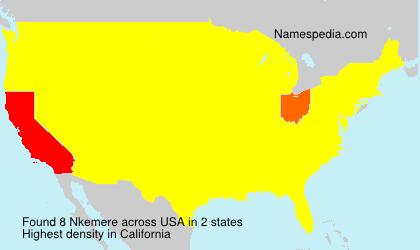 Surname Nkemere in USA