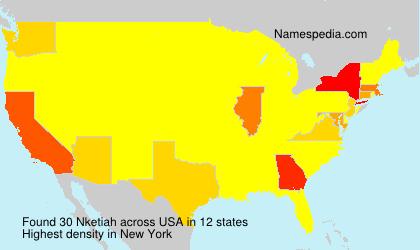 Surname Nketiah in USA