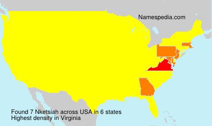 Surname Nketsiah in USA
