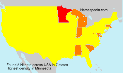 Surname Nkhata in USA