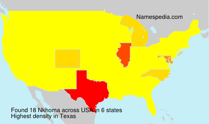 Surname Nkhoma in USA