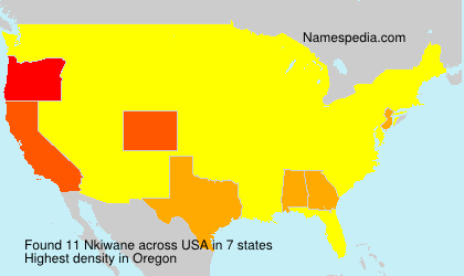Surname Nkiwane in USA