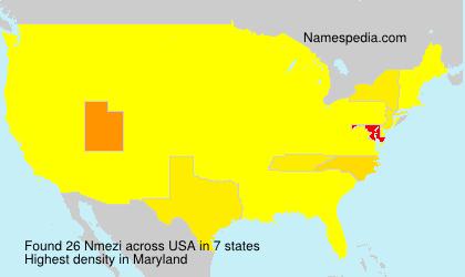 Surname Nmezi in USA