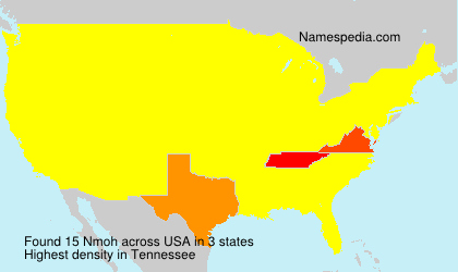 Surname Nmoh in USA