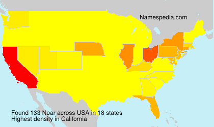 Surname Noar in USA