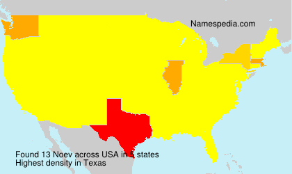Surname Noev in USA