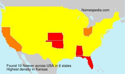Familiennamen Noever - USA
