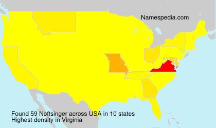 Familiennamen Noftsinger - USA