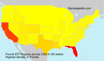 Surname Nogues in USA