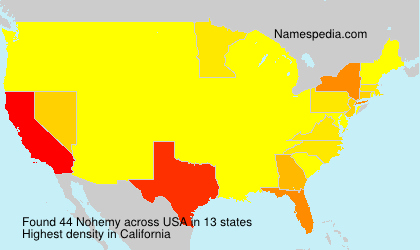 Surname Nohemy in USA