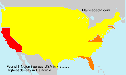 Surname Nojumi in USA