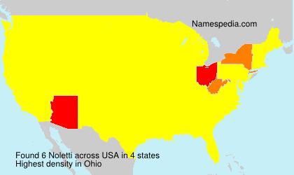 Surname Noletti in USA