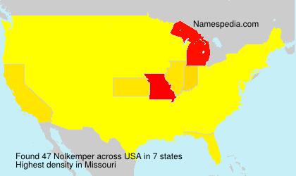 Surname Nolkemper in USA