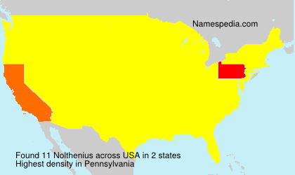 Surname Nolthenius in USA