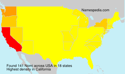Surname Nomi in USA