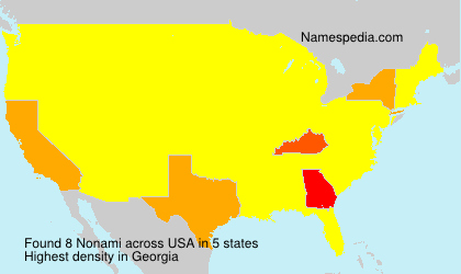 Surname Nonami in USA