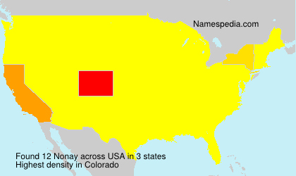 Surname Nonay in USA