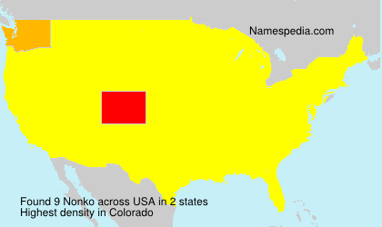 Surname Nonko in USA