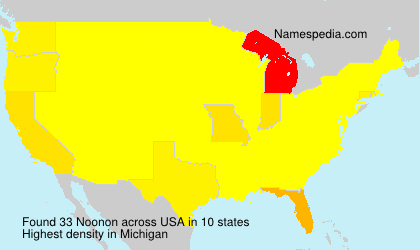 Surname Noonon in USA