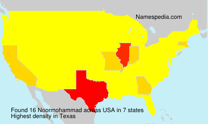 Surname Noormohammad in USA