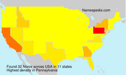 Surname Norce in USA