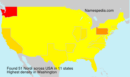 Surname Nordi in USA