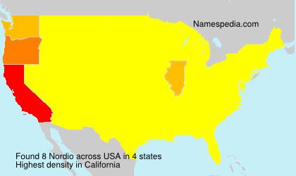 Familiennamen Nordio - USA