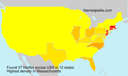 Surname Norflet in USA
