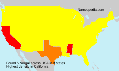 Surname Norgal in USA