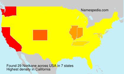 Surname Norikane in USA