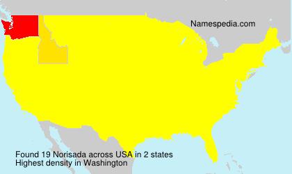 Surname Norisada in USA
