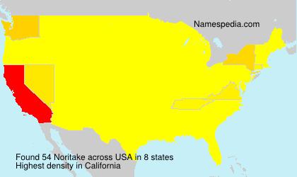 Surname Noritake in USA