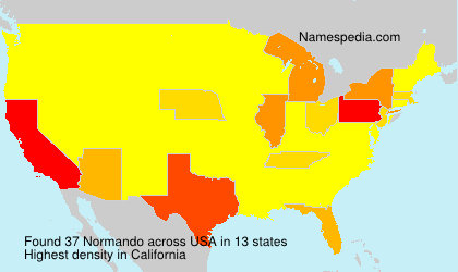 Surname Normando in USA