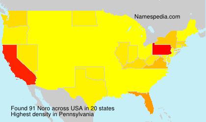 Familiennamen Noro - USA