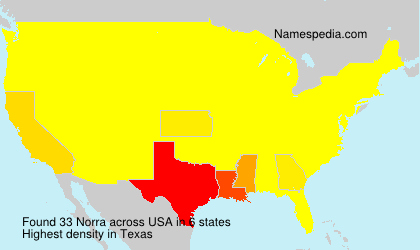 Surname Norra in USA