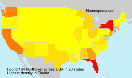 Surname Northover in USA