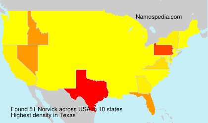 Surname Norvick in USA