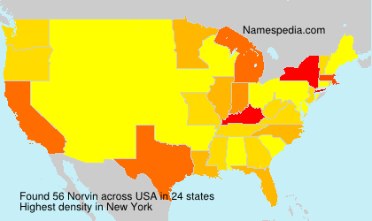 Surname Norvin in USA