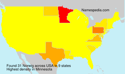 Surname Norwig in USA