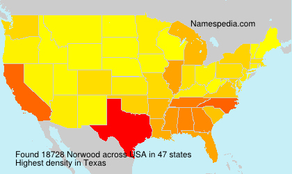 Surname Norwood in USA