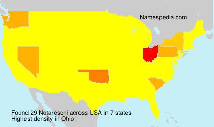 Surname Notareschi in USA