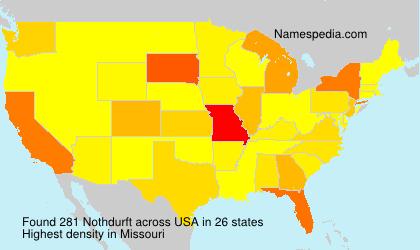 Surname Nothdurft in USA
