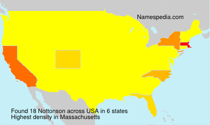 Surname Nottonson in USA