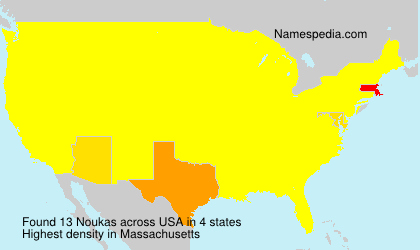 Surname Noukas in USA