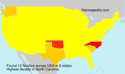 Familiennamen Noulles - USA
